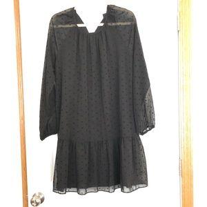 Black size Large Dress. Sheer sleeves
